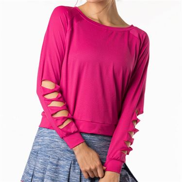 Lucky in Love Shape It Up Chill Fit Cut It Up Long Sleeve - Raspberry