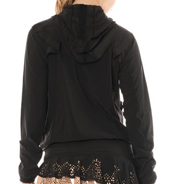 Lucky in Love Metallic Laser Flip Jacket Womens Black CT553 856001