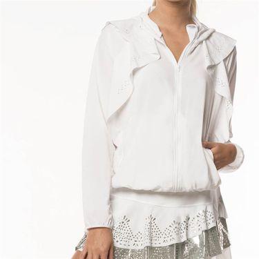 Lucky in Love Metallic Laser Flip Jacket Womens White CT553 856110