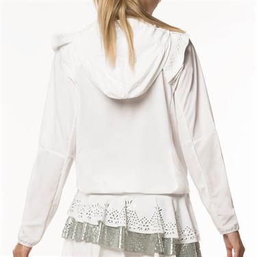 Lucky in Love Metallic Laser Flip Jacket Womens White CT553 856110
