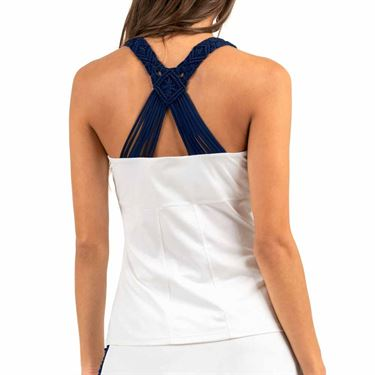 Lucky in Love Tahiti Macrame Cami - White