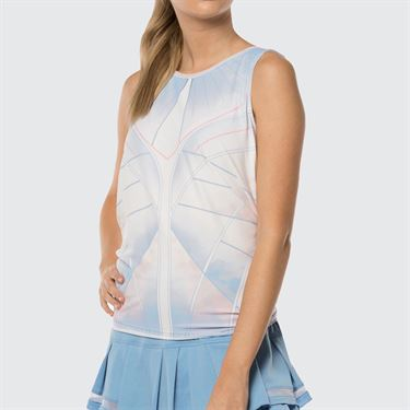 Lucky in Love Celestial Geo Chill Fit Astral Tie Back Tank - Bluebell