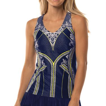 Lucky in Love Lace Yourself Tank Womens Midnight CT593 A07401