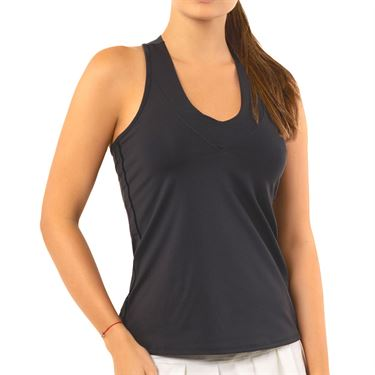 Lucky in Love Core V Neck Tank Womens Charcoal CT60 040