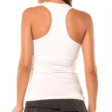 Lucky in Love Core V Neck Tank-White