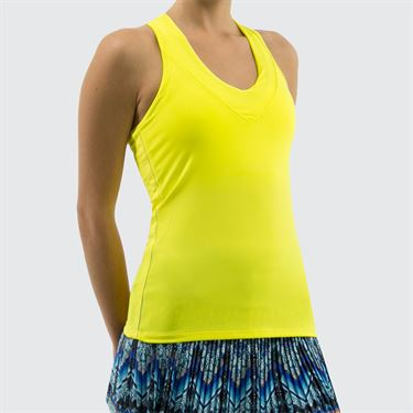Lucky in Love Core V Neck Tank - Yellow
