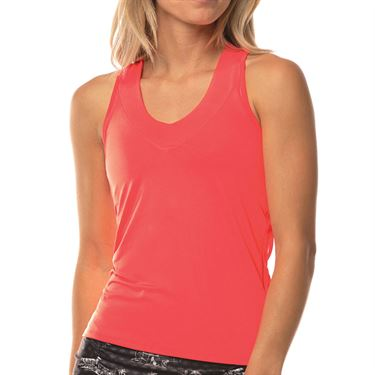 Lucky in Love Cest La Vie V Neck Tank Womens Coral CT60 801