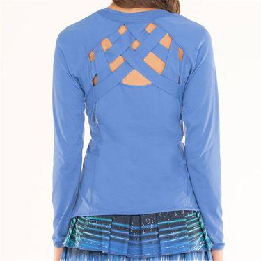 Lucky in Love Lite Speed Velocity Criss Criss Long Sleeve Top Womens Parisian Blue CT606 434