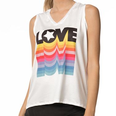 Lucky in Love Core Love Tie Back Tank - White