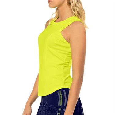 Lucky in Love Lace Yourself Starter Ribbed Tank Womens Neon Yellow CT608 710