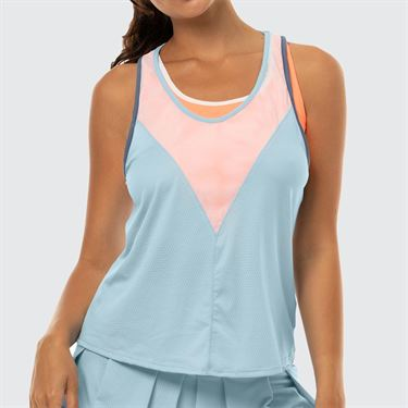 Lucky in Love Celestial Geo Chill Fit Bungee Tank - Bluebell