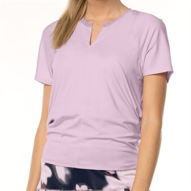 Lucky in Love Lush Daze Viper Tie Back Top - Lavender