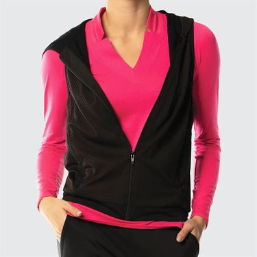 Lucky in Love Uptown Cargo Vest Womens Black CT619 001
