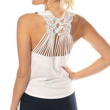 Lucky in Love Tahiti Macrame Singlet - White