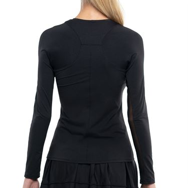 Lucky in Love L UV Protection Breeze Long Sleeve Crew Top Womens Black CT634 001