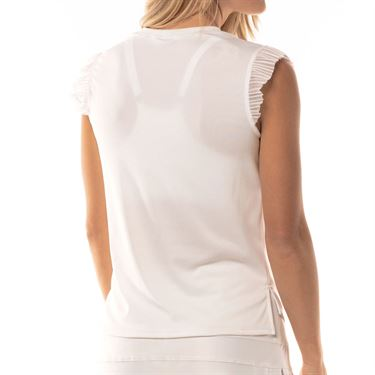 Lucky in Love Lace Yourself Shake It Rib Tank Womens White CT640 110