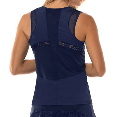 Lucky in Love Lace Yourself Baseline Tank Womens Midnight CT642 401
