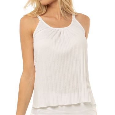 Lucky in Love Core Pleated Strappy Cami Womens White CT648 110