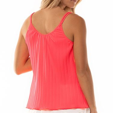 Lucky in Love Cest La Vie Pleated Strappy Cami Womens Coral CT648 801