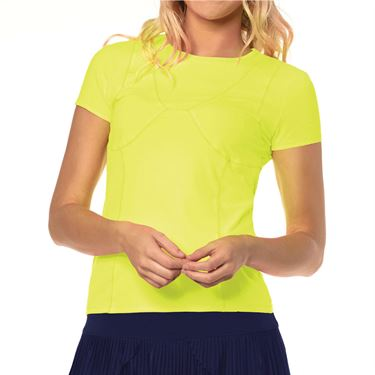 Lucky in Love Lace Yourself Mon Amie Top Womens Neon Yellow CT652 710