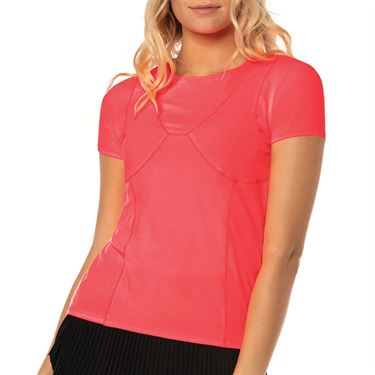 Lucky in Love Cest La Vie Mon Amie Top Womens Coral CT652 801