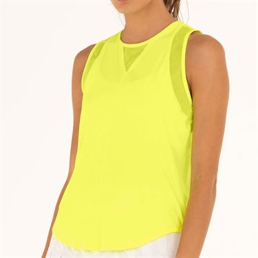 Lucky in Love L UV Protection Chill Out Tank Womens Neon Yellow CT661 710