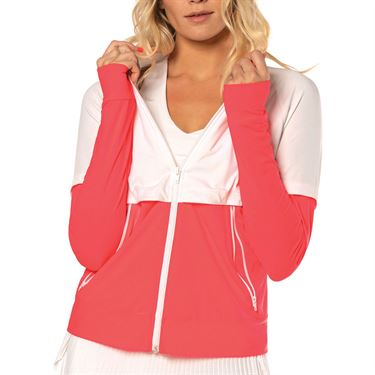 Lucky in Love Cest La Vie Bonjour Jacket Womens Coral CT663 801