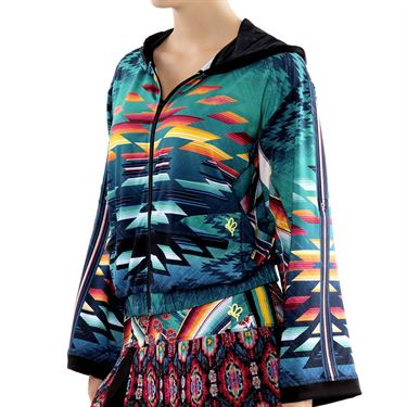 Lucky in Love Desert Bloom Jacket Womens Teal CT669 D36308