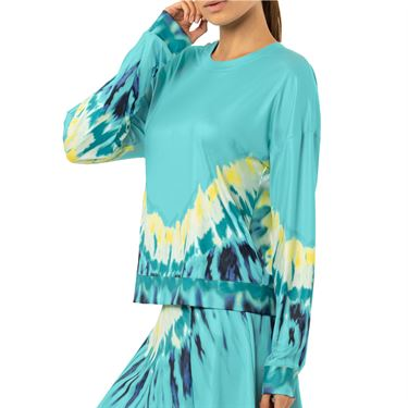 Lucky in Love Peace Out Psychedelic Long Sleeve Top