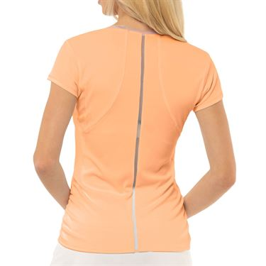 Lucky in Love Eyelet Go Rib Uplift Top Womens Orange Frost CT700 824