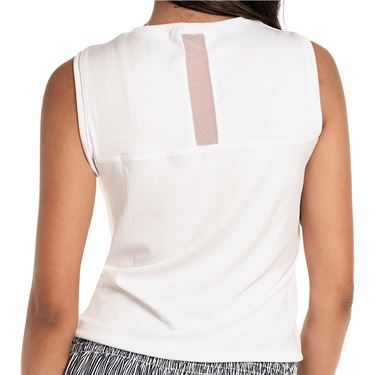 Lucky in Love Twist Front Tank Womens White CT701 110