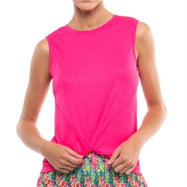 Lucky in Love Twist Front Tank Womens Shocking Pink CT701 645