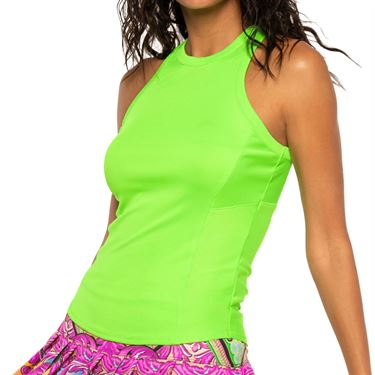 Lucky in Love Rockin Rococo One Love Rib Tank Womens Lime CT709 334