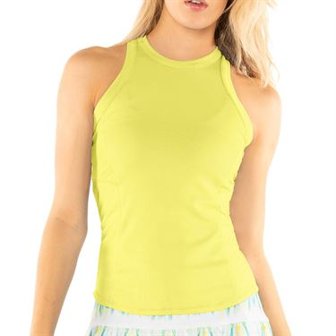 Lucky in Love Peace Out One Love Rib Tank Womens Lemon Frost CT709 718