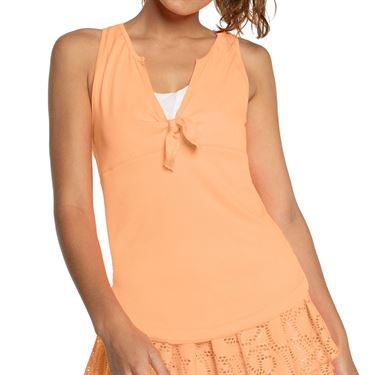Lucky in Love Eyelet Go Tie Me Up Tank Womens Orange Frost CT710 824