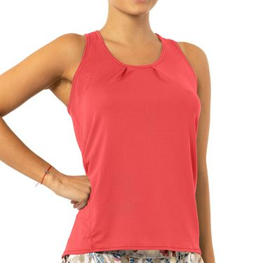 Lucky in Love A Stitch In Time Tie Back Tank Womens Flame CT712 807
