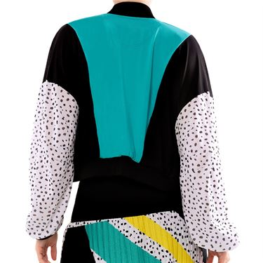 Lucky in Love MIA Cropped Bomber Jacket Womens Aquamarine CT721 D41416