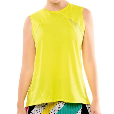 Lucky in Love Tie Back Tank 2.0 Womens Yellow CT727 709