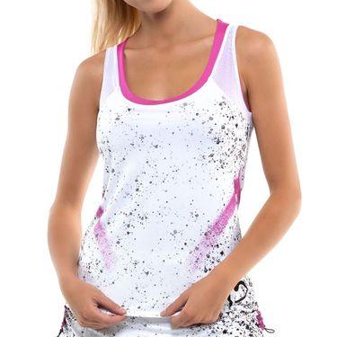 Lucky in Love City Graffiti Tank Womens White/Black/Passion Pink CT744 E10689