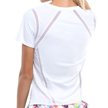 Lucky in Love Mixed Up High/Low Top Womens White CT757 110