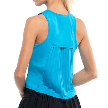 Lucky in Love Square Are You Pleats Please Tank Womens Turquoise CT766 409