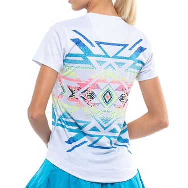 Lucky In Love Square Are You Short Sleeve - Turquoise/Multi