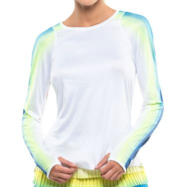 Lucky in Love Sea Breeze Stripe LUV Novelty Long Sleeve Top Womens Breeze CT776 F25422