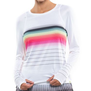 Lucky in Love Limitless Stripe LUV Novelty Long Sleeve Top Womens Multi CT776 F26955