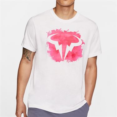 Nike Court Dri Fit Rafa Tee Shirt Mens White CU0324 100