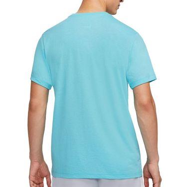 Nike Court Dri Fit Rafa Tee Shirt Mens Polarized Blue CU0324 445