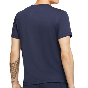 Nike Court Dri Fit Rafa Tee Shirt Mens Obsidian CU0324 451
