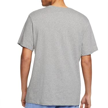 Nike Court Tee Shirt Mens Dark Grey Heather CU0329 063