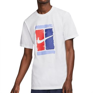 Nike Court Tee Shirt Mens White CU0329 100