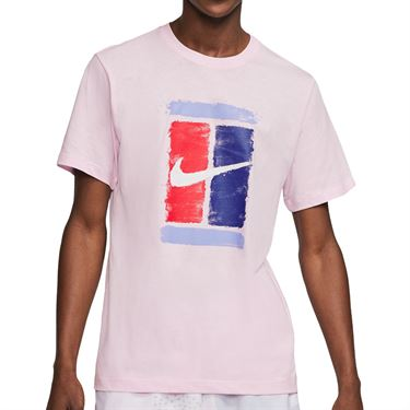 Nike Court Tee Shirt Mens Pink Foam CU0329 663
